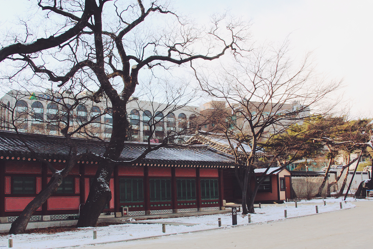 changdeokgung palace korea winter