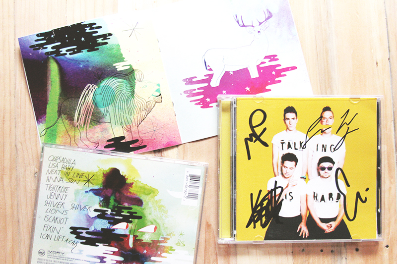 walk the moon signed album talking is hard